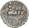 コインの裏面に刻まれたビガに乗るヴィーナス2