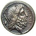 サトゥルヌスがオモテ面に刻まれたコイン刻まれた002