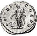 アンノーナが裏面に刻まれたコイン