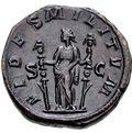 コイン裏面に描かれたフィデース