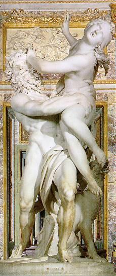 ペルセポネーを誘拐するハデス