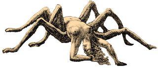 蜘蛛にされたアラクネ