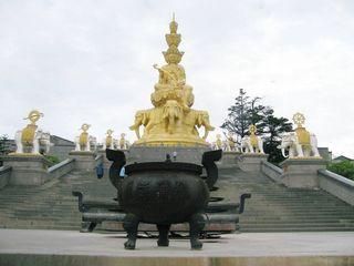 黄金の中国 峨眉山 普賢菩薩