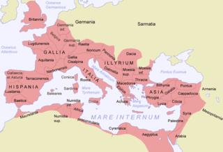 ローマ帝国の地図