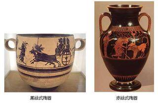 黒絵式・赤絵式陶器