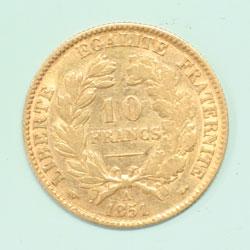 10フラン 1851