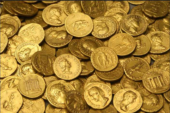 ローマ金貨集合体
