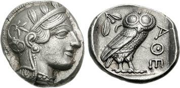 アテナ神とフクロウ