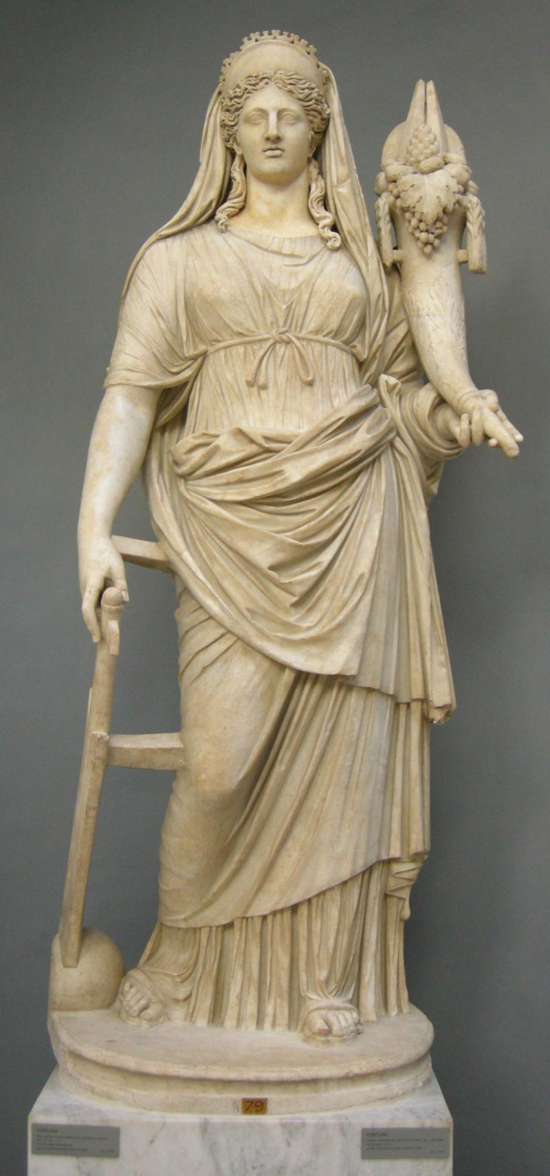 Fortuna _rielaborazione_romana_da_originale_greco_del_IV_secolo_ac._con_testa_non_pertinente _da_tor_bovicciana_(ostia) _inv._2244