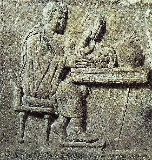 05.05.04.D.-A-ROMAN-RELIEF-OF-A-BANKER-AT-WORK-2